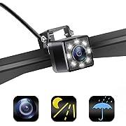 Backup Camera,Homder Car Rear View Backup Camera,Reverse Camera with 8 LED Night Vision,IP68 Waterproof Universal Car Back Up Camera License Plate