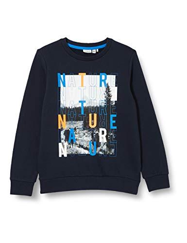 NAME IT Jungen NKMOMANDO LS Sweat BRU Pullover, dunkelblau/Print, 122-128