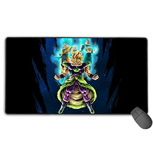 Broly Goku Super Saiyan Blue Vegeta Mousepad Non-Slip Rubber Electronic Sports Oversized Large Gaming Mouse Mat, Rectangular Mouse Pads 15.7 x 29.5 inch (40 x 75 cm)
