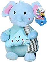RONSHIN Star Moon Baby Multi-Functional Animal Plush Doll Rattle Ring Bell Bed Hanging Toy for Kids Cloud-Capped Elephant