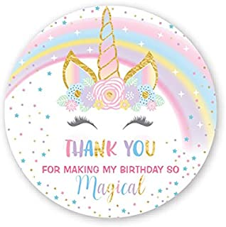 Your Main Event Prints Unicorn Birthday Stickers, Unicorn Party Stickers, Unicorn Thank You Favor Stickers, 50 Count