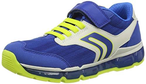 Geox Jungen J Android Boy B Sneaker, Blau (Royal/Lime C4344), 34 EU
