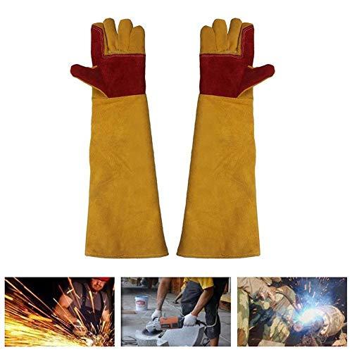 Artisan huis lashandschoenen werken Bescherm handschoenen met 60 cm Extra lange mouwen Versterkte Palm & Duim & Index Vinger voor Tig lassers/Grill/Open haard/Fornuis/Tuin of Dierenbehandeling