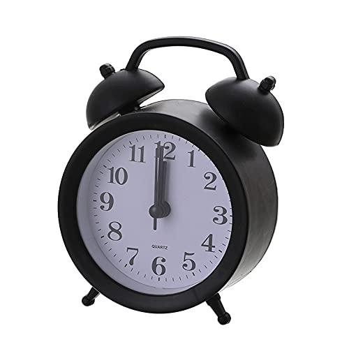 Kfhfhsdgsanz Despertador, Reloj de Alarma Redondo para el hogar de la Cama de la Cama de la Cama,Reloj de Alarma,Reloj de Reloj de Reloj de Reloj Decorativo Reloj de Estudio pequeño Reloj