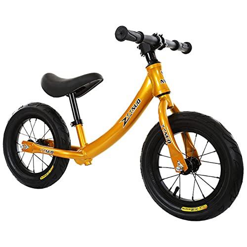 Bicicleta De Equilibrio para Niños De Aleación De Aluminio, Adecuado para 2-6 Años De Edad, Walker Sin Pedal Training Bike Balance Bike,Oro