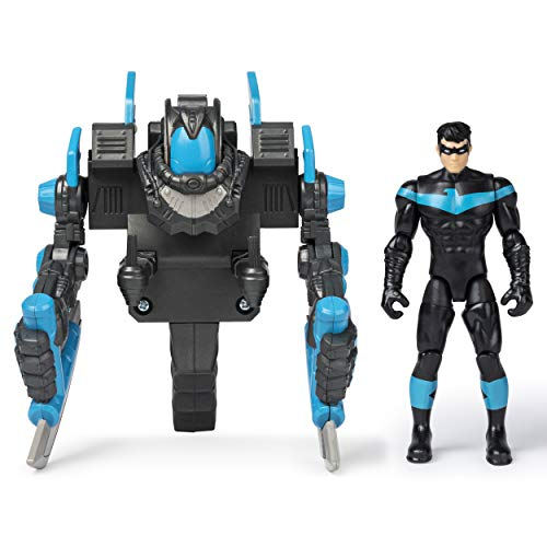BATMAN, 4-Inch NIGHTWING Mega Gear Deluxe Action Figure with Transforming Armor