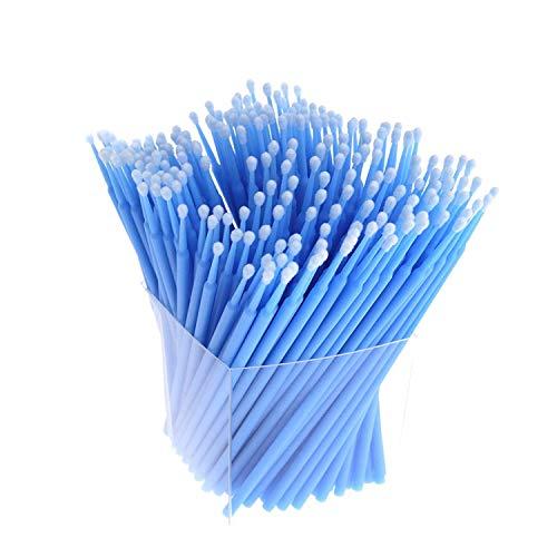 Iycorish 200Pcs Applicateurs Cils-Crayons Micro-Brosse Jetables Extensions de Maquillage Pinceau-Bleu