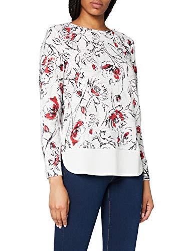 ESPRIT Collection 018eo1k003 T-Shirt À Manches Longues, Blanc (Off White 110), X-Small Femme