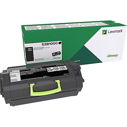 Lexmark 53B1000 MS817n Return Program Toner Cartridge, Black, 1 Size