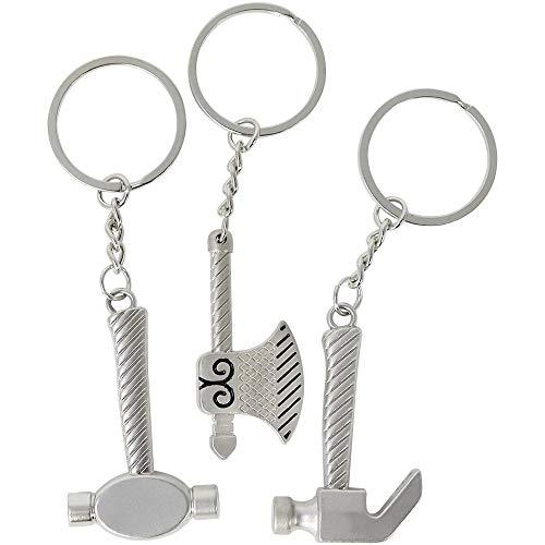 3X Klempner Schlüsselanhänger, Verschiedene Mini-Zangen aus Metall, Anhänger im berufstypischen Stil, Sanitärwerkzeuge