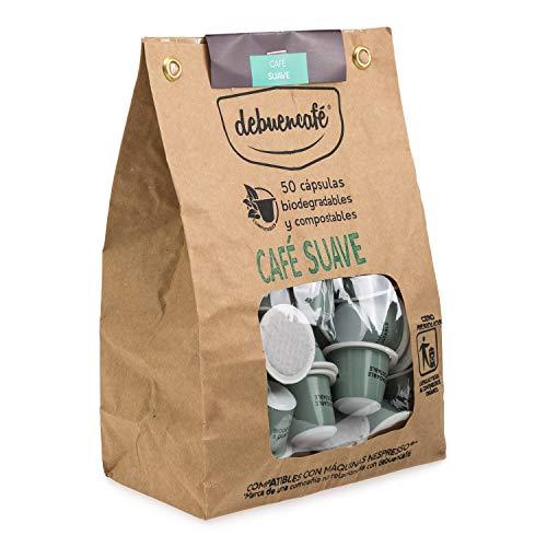 debuencafé. 50 Cápsulas Compostables de Café Ecológico Suave. Compatibles con Nespresso ®