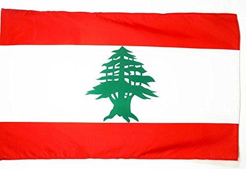 AZ FLAG Flagge LIBANON 250x150cm - LIBANESISCHE Fahne 150 x 250 cm Scheide für Mast - flaggen Top Qualität