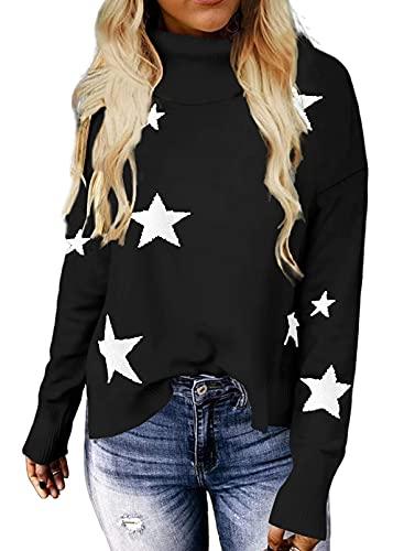 Suéter de punto suave y cómodo para mujer y damas, G-negro, XL