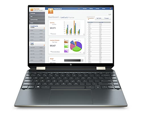 HP Spectre x360 11th Gen Intel Core i5 13.5-inch(34.2 cm) WUXGA Convertible Laptop (16GB RAM/512GB SSD/3:2 Aspect Ratio/400 Nits/Windows 10/MS Office/Poseidon Blue/1.34 Kg), 14-ea0538TU