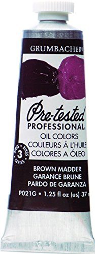 Grumbacher Pre-Tested Oil Paint, 37ml/1.25 Ounce, Brown Madder (P021G)