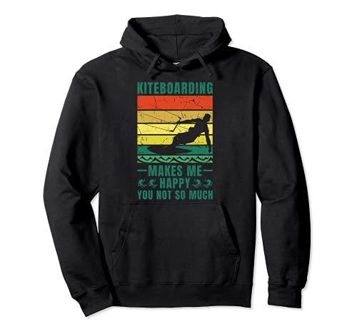 Surfista Kiteboarding Happy You No tanto Surf Kiteboard Sudadera con Capucha