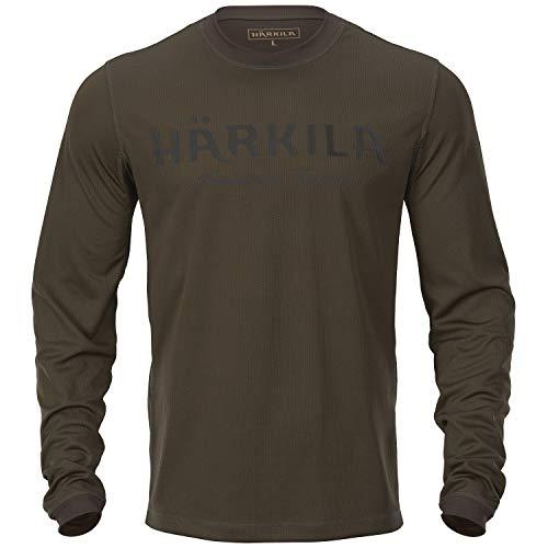 Härkila Mountain Hunter Langarmshirt - Langärmliges Jagdshirt mit antibakterieller Polygiene®-Behandlung - Atmungsaktives und dehnbares T-Shirt für die Jagd, Größe:L
