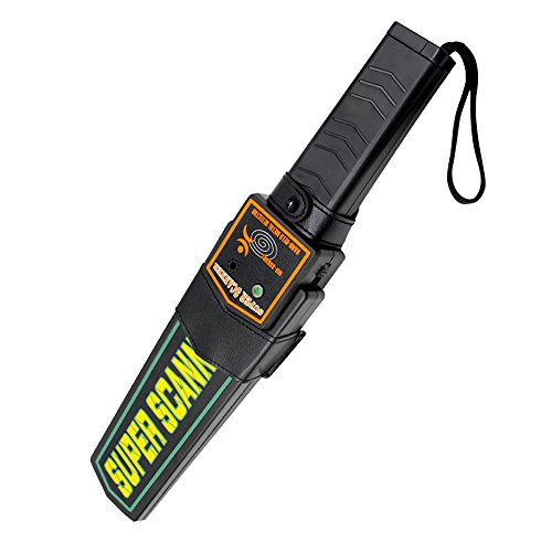 Manfore Metalldetektoren/Hand Metalldetektoren/Metall Scanner Detektor, Alarm Sicherheit Und Vibrationen für Empfindlichkeit Schatzsuche