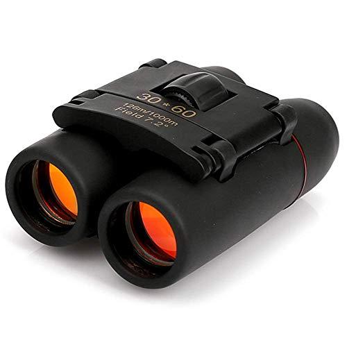 LNHJZ Zoom telescopio 30X60 binoculares Plegables con visión Nocturna con Poca luz para observación de Aves al Aire Libre, Viajes, Camping
