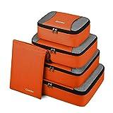 Gonex Kit di 5 pezzi Cubi Organizzatori di Valigie Borse di stoccaggio per viaggio Sacchetti Organizer a cubo per Bagagli in Nylon