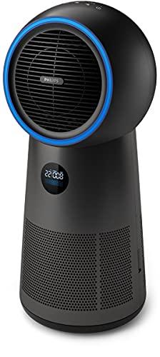Philips 3-in-1 Luftreiniger AMF220/15 - Luftreinigung, Ventilator und Heizlüfter, bis zu 42 m², 165 m³/Std. CADR, HEPA-Filter, schwarz
