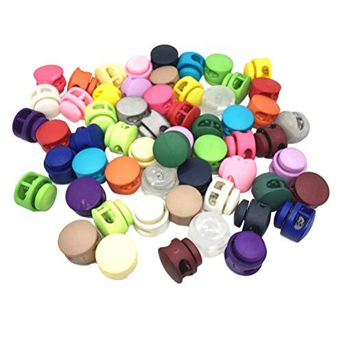 SUPVOX 50 unids Cerradura de cordón de colorido resorte de doble orificio Colores variados/aleatorios
