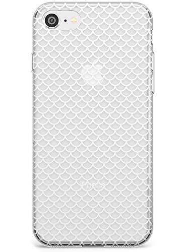 Modelo De La Escala (Blanco) Estuche delgado para iPhone 6, for iPhone 6s | Claro Silicona TPU Protector Ligero Ultra Thin Cubrir Patrón Impreso | Formas Resumen Guisado Al Gratén Vieira Pescado