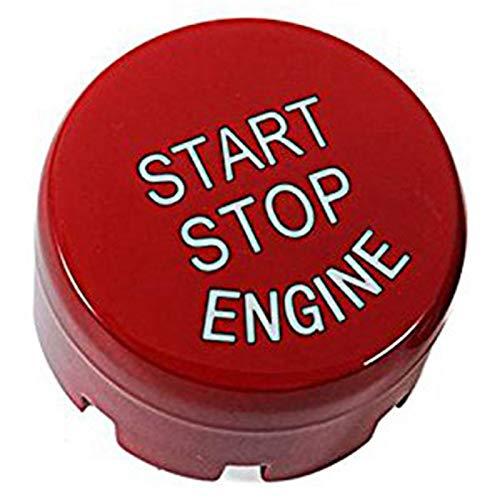 Cikuso Start Stop-Taste Zündschalter Mit Drucktaste Für 1 2 3 4 5 6 7 Serie X1 X 3 X4 X 5 X6 F20 F21 F30 F31 F10 F11 F01 F48 F25 F15 F16 Ersatz Knopf Abdeckung Kappe Rot