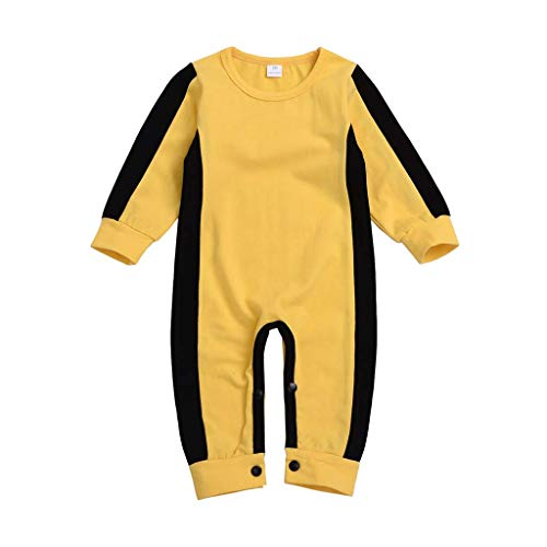JXS Baby-Gelb-Kampfsport-Overall - Kostüm-Ausstattungs-Body Anzug Anzug - für Kinder,90cm