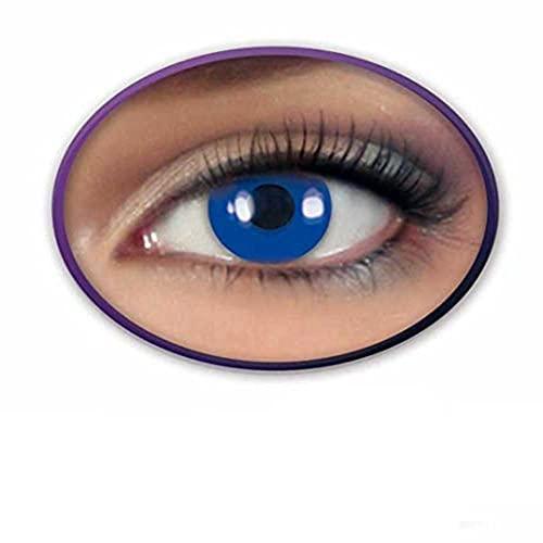 KarnevalsTeufel 2x Kontaktlinse Dark Blue Fun-Linsen Blau getönt farbig Motivlinsen
