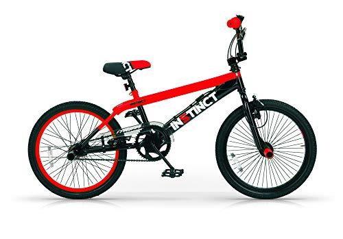 MBM BMX Istinct, Bici da Freestyle Unisex Bambini, Rosso A20, 20