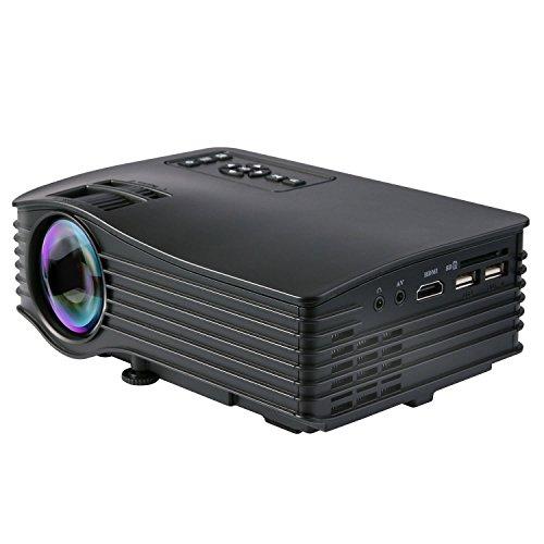"""Deeplee DP36 Mini Proiettore, 120"""" LED LCD Video Proiettore Portatile Home Theater con AV USB SD Card HDMI per Home Cinema Video Game film e supporto per PC portatili . Compatibile con PS3/PS4 Xbox Wii - Nero"""