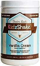 KidzShake - Kids Vanilla Cream Organic Protein Powder   Nutritional Meal Replacement Shake - Non GMO & Gluten Free w/ Probiotics, 12.13 oz