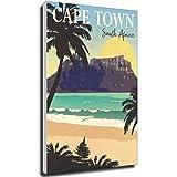 mocarrie Vintage Cityposter Kapstadt, Vintage-Poster, ohne