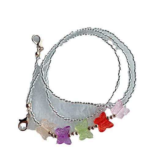 Lanyards Cadena Boho para las mujeres Cadenas para el collar Boho joyería mariposa gargantilla colorido moda collares 2021 collares