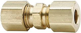 3250 psi Working Pressure 0.49 Hex 1//4 Tube OD 1.35 Length 7//16-20 Tube Thread Midland 28-966 Brass JIC 37 Degree Flare Straight Tube Union