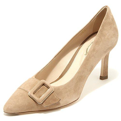 Tod's 96505 Decollete Cuoio T 75 SC Fibbia Pelle Scarpa Donna Shoes Women [36.5]