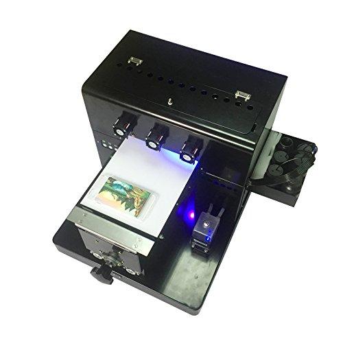Syoon 2018 A4 Imprimante UV de Petite Taille à LED avec Effet de Relief Imprimante à Plat UV de Golf pour boîtier de téléphone, Verre, métal, Cuir, TPU…