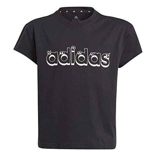 adidas Mädchen G G T2 T Shirt, Schwarz/Weiß, 11 Jahre EU