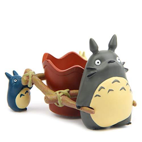 Hayao Miyazaki Totoro figur Mini winkelwagen bloempot hars DIY decoratie ornamenten