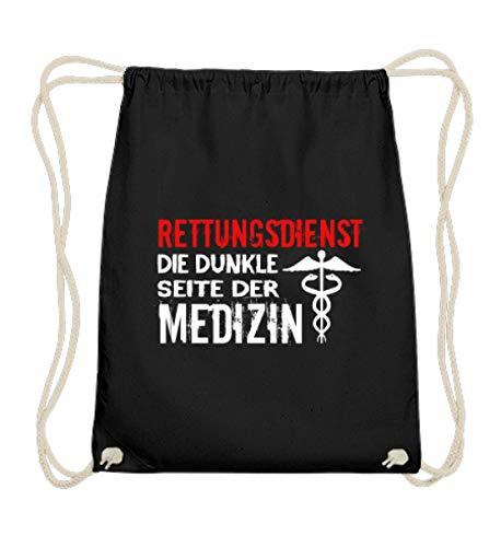 generisch Rettungsdienst Die Dunkle Seite Der Medizin|Rettungssanitäter|Rettungsassistent|Geschen - Baumwoll Gymsac -37cm-46cm-Schwarz