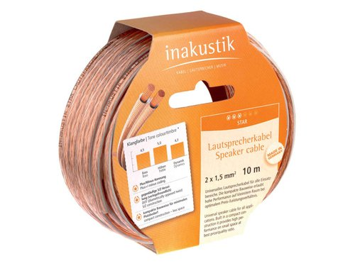 In-akustik Star luidsprekerkabel 2x 0,75 mm2 / 6 m spoel