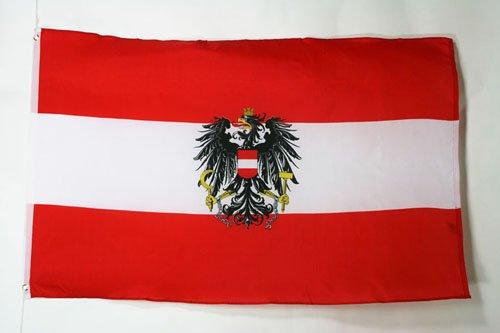 AZ FLAG Flagge ÖSTERREICH MIT Adler 90x60cm - ÖSTERREICHISCHE Fahne 60 x 90 cm - flaggen Top Qualität