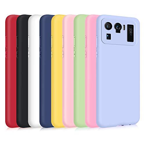 9X Cover per Xiaomi Mi 11 Ultra, Custodia Morbido Silicone Ultra-Sottile TPU Tinta Unita Anti-Graffio Paraurti Protettiva Flessibile Gomma Case - 9 Colori