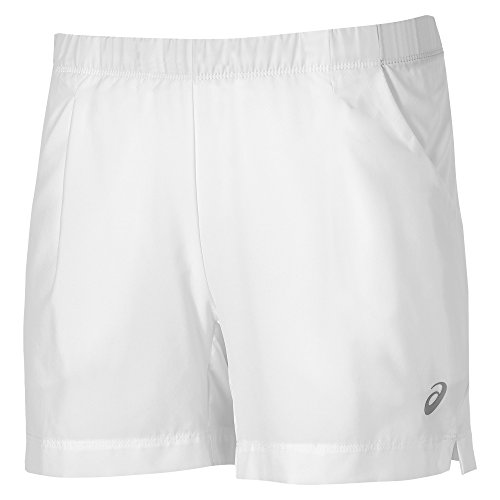 Asics Damen Oberbekleidung Club Shorts, weiß, S, 130255-0001