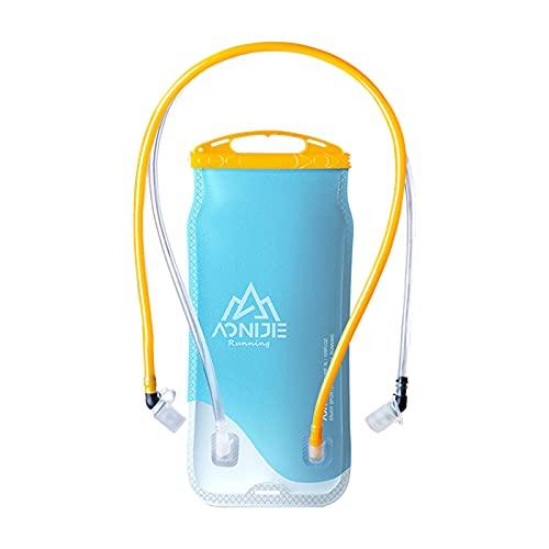 sharprepublic 2L BPA Free Hidratación Vejiga Doble depósito de Agua para Ciclismo Senderismo Mochila para Acampar