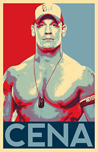 John Cena Illustration - Wrestlemania WWE Wrestler Fitness Pop Art Home Decor Poster Print (11x17 inches)