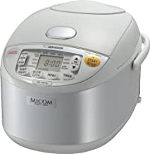 Zojirushi NS-YAC10 Umami Micom Rice Cooker and Warmer, Pearl White, 5.5 Cup Capacity