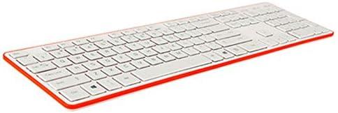 XJRHB Chocolate Keyboard Slim Mute Wired USB Desktop Notebook External Game Room White Keyboard Color : F
