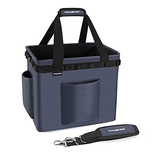 HAUSHOF ツールバッグ 工具袋 ギアコンテナ 工具バック 多機能 工具収納バッグ ワンタッチ バケット ツールボックス オックスフォード600D 防水コーティング 大容量 折畳み可能 キャンプ アウトドア ボックス 車載 釣り 薪ケース 持ち運び用